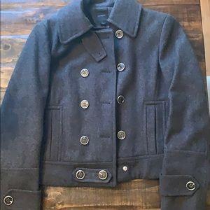 Express Grey Wool Short Coat